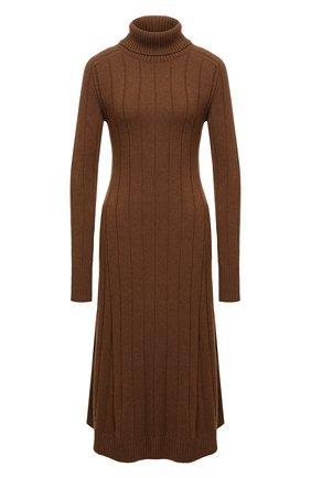 Женское кашемировое платье LORO PIANA светло-коричневого цвета, арт. FAL7031   Фото 1