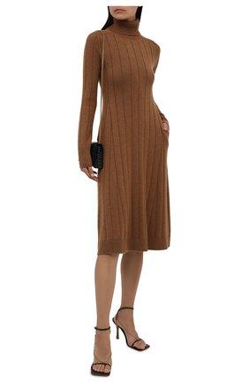 Женское кашемировое платье LORO PIANA светло-коричневого цвета, арт. FAL7031   Фото 2