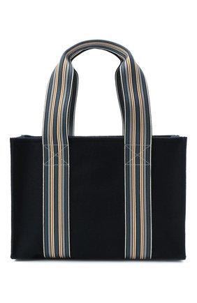 Женский сумка-шопер suitcase stripe LORO PIANA темно-синего цвета, арт. FAL3818   Фото 1