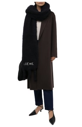 Женский шарф LOEWE черного цвета, арт. F526487X08 | Фото 2