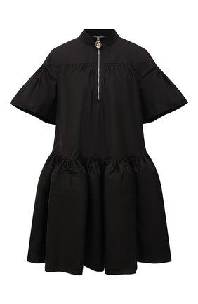 Женское хлопковое платье LANVIN черного цвета, арт. RW-DR0039-4802-A21 | Фото 1