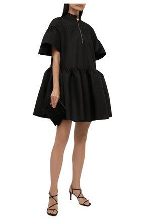 Женское хлопковое платье LANVIN черного цвета, арт. RW-DR0039-4802-A21 | Фото 2