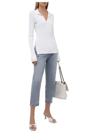 Женский пуловер из вискозы HELMUT LANG белого цвета, арт. L04HW712 | Фото 2