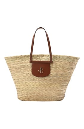 Женская сумка-тоут macy JIMMY CHOO бежевого цвета, арт. MACY T0TE/VGH | Фото 1