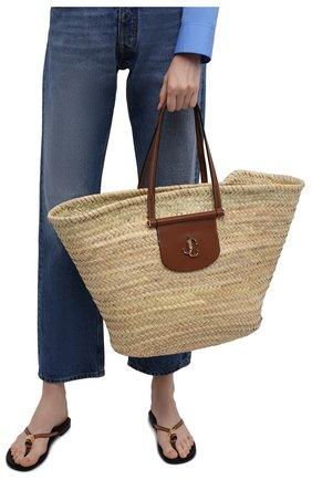 Женская сумка-тоут macy JIMMY CHOO бежевого цвета, арт. MACY T0TE/VGH | Фото 2