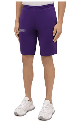 Мужского хлопковые шорты PANGAIA фиолетового цвета, арт. 20FSU01B-109-FM001   Фото 6 (Женское Кросс-КТ: Шорты-одежда; Материал внешний: Хлопок; Стили: Спорт-шик; Длина Ж (юбки, платья, шорты): Миди)
