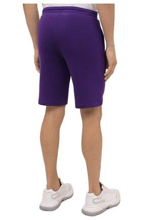 Мужского хлопковые шорты PANGAIA фиолетового цвета, арт. 20FSU01B-109-FM001   Фото 7 (Женское Кросс-КТ: Шорты-одежда; Материал внешний: Хлопок; Стили: Спорт-шик; Длина Ж (юбки, платья, шорты): Миди)