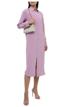 Женское шелковое платье RALPH LAUREN светло-розового цвета, арт. 290849502 | Фото 2 (Рукава: Длинные; Длина Ж (юбки, платья, шорты): Миди; Материал внешний: Шелк; Женское Кросс-КТ: Платье-одежда, платье-рубашка; Случай: Повседневный; Стили: Кэжуэл)