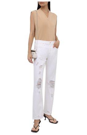 Женские джинсы MICHAEL MICHAEL KORS белого цвета, арт. MU1900XV20 | Фото 2