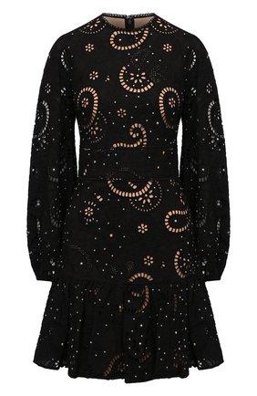 Женское хлопковое платье MICHAEL MICHAEL KORS черного цвета, арт. MU180L927F | Фото 1