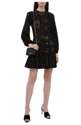 Женское хлопковое платье MICHAEL MICHAEL KORS черного цвета, арт. MU180L927F | Фото 2