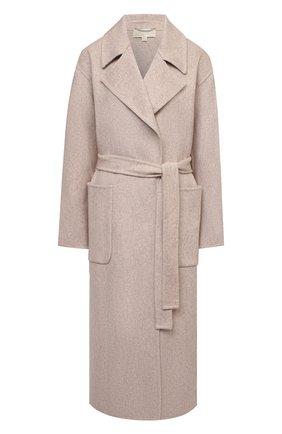 Женское шерстяное пальто MICHAEL MICHAEL KORS светло-бежевого цвета, арт. MS12023GBX | Фото 1