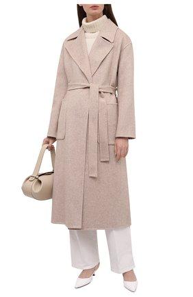 Женское шерстяное пальто MICHAEL MICHAEL KORS светло-бежевого цвета, арт. MS12023GBX | Фото 2