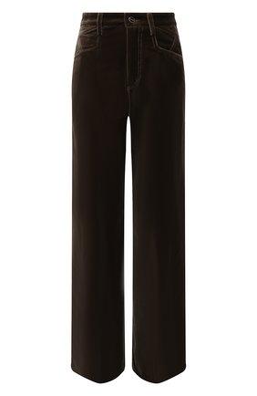 Женские велюровые брюки KITON хаки цвета, арт. DJ52102X04T63   Фото 1 (Материал внешний: Хлопок; Длина (брюки, джинсы): Стандартные; Женское Кросс-КТ: Джоггеры - брюки, Брюки-одежда; Силуэт Ж (брюки и джинсы): Прямые; Стили: Кэжуэл)