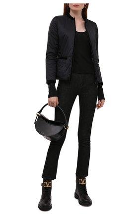Женская утепленная куртка EMPORIO ARMANI черного цвета, арт. 8N2B01/2NKBZ   Фото 2