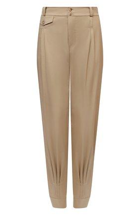 Женские хлопковые брюки RALPH LAUREN бежевого цвета, арт. 290834757 | Фото 1 (Материал внешний: Хлопок; Длина (брюки, джинсы): Стандартные; Женское Кросс-КТ: Брюки-одежда; Силуэт Ж (брюки и джинсы): Джоггеры; Стили: Кэжуэл)