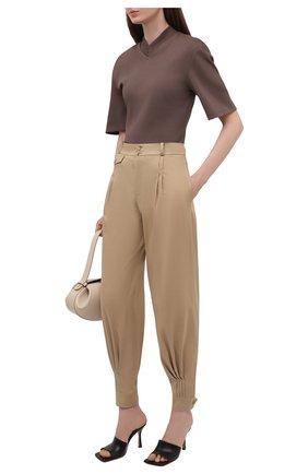 Женские хлопковые брюки RALPH LAUREN бежевого цвета, арт. 290834757 | Фото 2 (Материал внешний: Хлопок; Длина (брюки, джинсы): Стандартные; Женское Кросс-КТ: Брюки-одежда; Силуэт Ж (брюки и джинсы): Джоггеры; Стили: Кэжуэл)