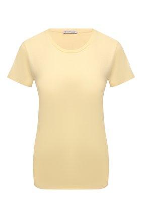 Женская хлопковая футболка MONCLER  цвета, арт. G2-093-8C000-23-829ET   Фото 1