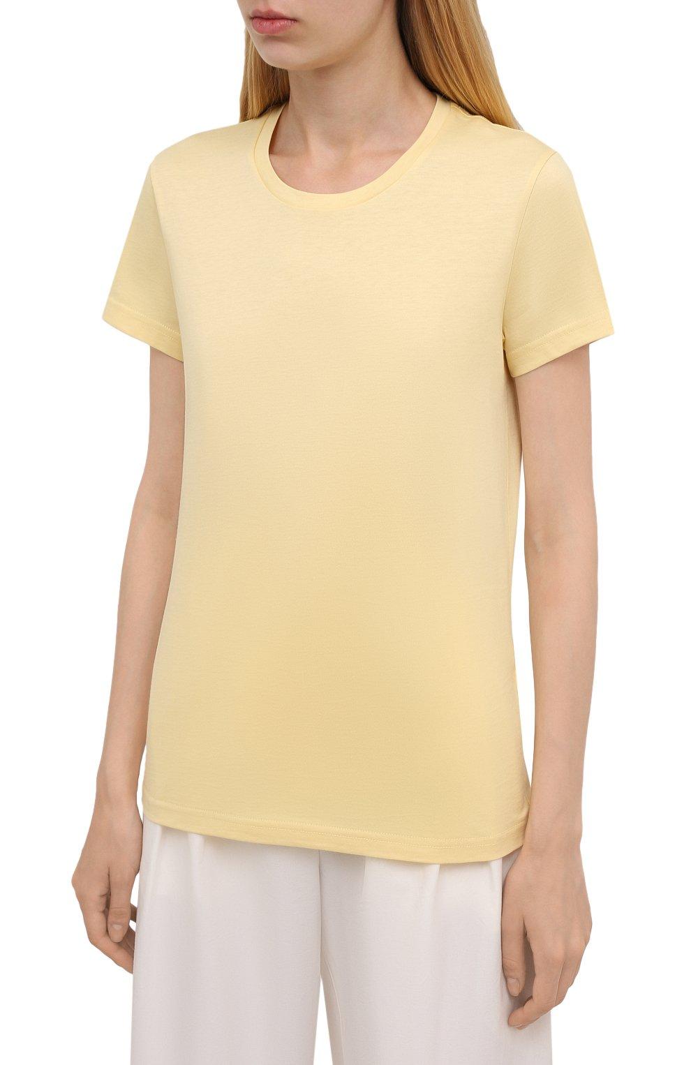 Женская хлопковая футболка MONCLER  цвета, арт. G2-093-8C000-23-829ET   Фото 3