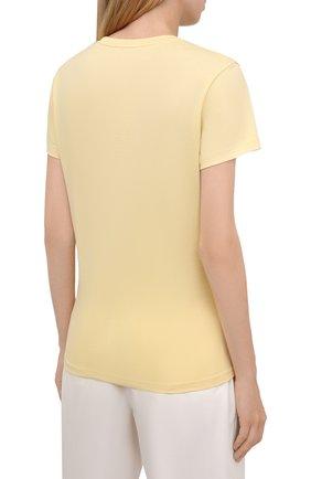 Женская хлопковая футболка MONCLER  цвета, арт. G2-093-8C000-23-829ET   Фото 4