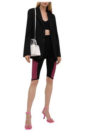 Женские шорты MONCLER черного цвета, арт. G2-093-9L000-07-M1123 | Фото 2 (Материал внешний: Синтетический материал; Длина Ж (юбки, платья, шорты): Миди; Женское Кросс-КТ: Шорты-одежда; Стили: Спорт-шик)