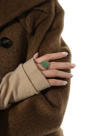 Женское кольцо BOTTEGA VENETA изумрудного цвета, арт. 665756/VX821 | Фото 2
