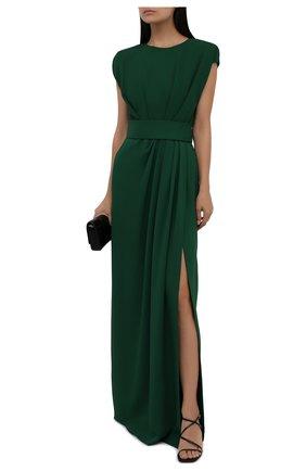 Женское платье из вискозы DOLCE & GABBANA темно-зеленого цвета, арт. F6K3TT/FUIAH   Фото 2