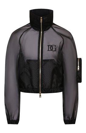 Женская куртка DOLCE & GABBANA черного цвета, арт. F9J28Z/FUMG9   Фото 1