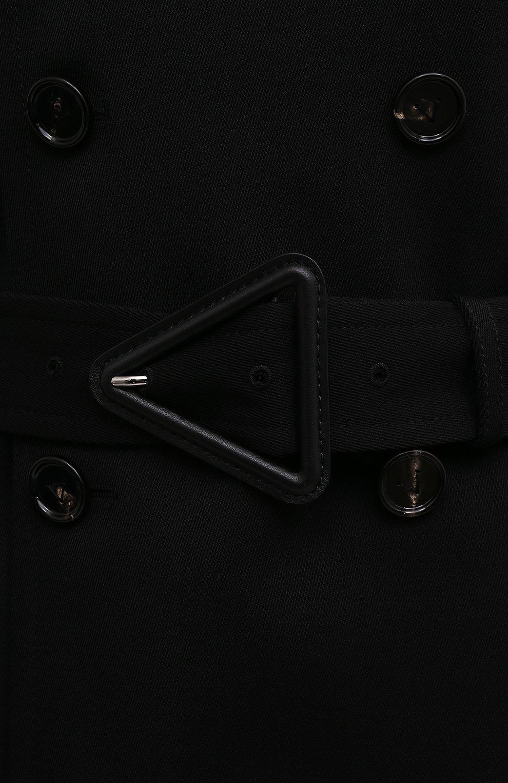 Женский шерстяной тренч BOTTEGA VENETA черного цвета, арт. 666052/V0B20 | Фото 5 (Материал внешний: Шерсть; Рукава: Длинные; Длина (верхняя одежда): Длинные; Материал подклада: Хлопок; Стили: Кэжуэл)
