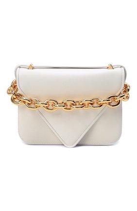 Женская сумка mount small BOTTEGA VENETA белого цвета, арт. 667399/V12J0   Фото 1 (Материал: Натуральная кожа; Сумки-технические: Сумки top-handle, Сумки через плечо; Размер: small; Ремень/цепочка: На ремешке)