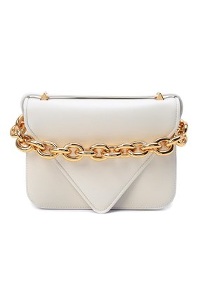 Женская сумка mount small BOTTEGA VENETA белого цвета, арт. 667399/V12J0 | Фото 1 (Материал: Натуральная кожа; Сумки-технические: Сумки top-handle, Сумки через плечо; Размер: small; Ремень/цепочка: На ремешке)