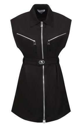 Женское платье BOTTEGA VENETA темно-коричневого цвета, арт. 665681/VKIL0   Фото 1