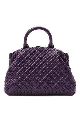 Женская сумка handle small BOTTEGA VENETA фиолетового цвета, арт. 651556/V01D1 | Фото 1 (Материал: Натуральная кожа; Сумки-технические: Сумки top-handle, Сумки через плечо; Размер: small; Ремень/цепочка: На ремешке)
