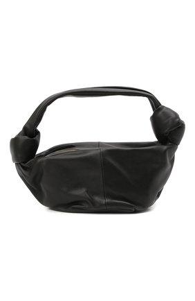 Женская сумка double knot mini BOTTEGA VENETA черного цвета, арт. 629635/VCP41 | Фото 1 (Материал: Натуральная кожа; Сумки-технические: Сумки top-handle; Размер: mini)