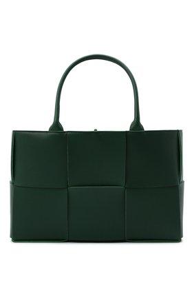 Женский сумка-тоут arco medium BOTTEGA VENETA темно-зеленого цвета, арт. 609175/VMAY3 | Фото 1 (Материал: Натуральная кожа; Сумки-технические: Сумки-шопперы; Размер: medium)