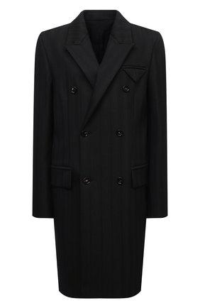 Женское пальто BOTTEGA VENETA хаки цвета, арт. 668802/V1200   Фото 1 (Материал подклада: Вискоза; Материал внешний: Синтетический материал; Рукава: Длинные; Длина (верхняя одежда): До колена; Стили: Кэжуэл; 1-2-бортные: Двубортные)