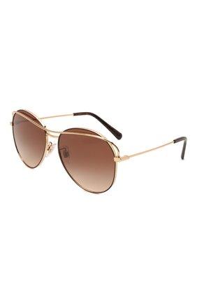 Женские солнцезащитные очки DOLCE & GABBANA коричневого цвета, арт. 2261-134413   Фото 1