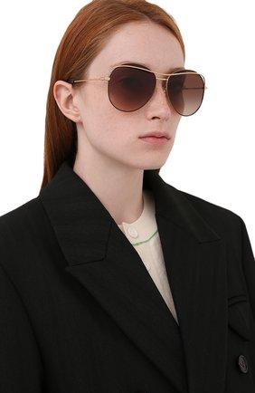 Женские солнцезащитные очки DOLCE & GABBANA коричневого цвета, арт. 2261-134413   Фото 2
