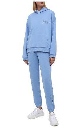 Женский хлопковый костюм SEVEN LAB голубого цвета, арт. HP20-WN sky | Фото 1