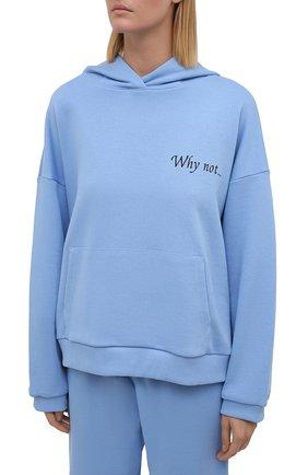 Женский хлопковый костюм SEVEN LAB голубого цвета, арт. HP20-WN sky | Фото 2