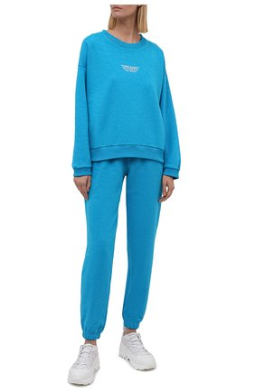 Женский хлопковый костюм SEVEN LAB бирюзового цвета, арт. SWP21-D turquoise   Фото 1