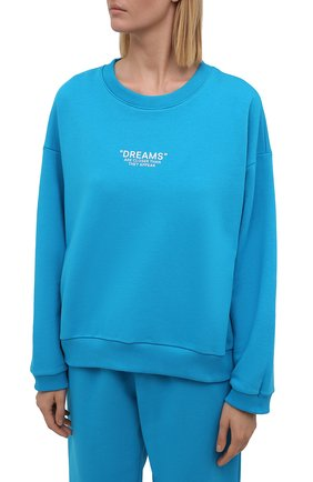 Женский хлопковый костюм SEVEN LAB бирюзового цвета, арт. SWP21-D turquoise   Фото 2