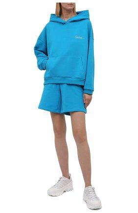 Женский хлопковый костюм SEVEN LAB бирюзового цвета, арт. HS21-S turquoise   Фото 1