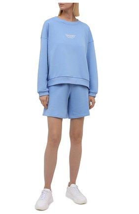 Женский хлопковый костюм SEVEN LAB голубого цвета, арт. SWS21-D sky | Фото 1