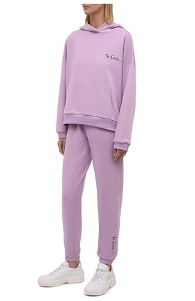 Женский хлопковый костюм SEVEN LAB сиреневого цвета, арт. HP20-IL lavender   Фото 1