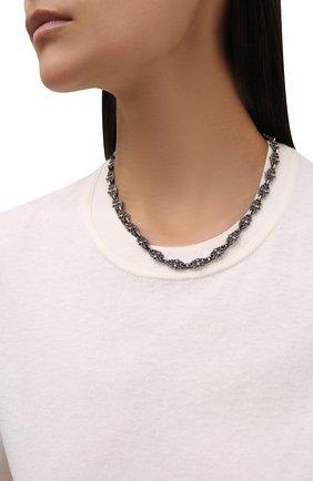 Женское цепь флер де лис GL JEWELRY серебряного цвета, арт. M600004-S97-01 | Фото 2