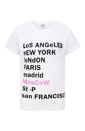 Женская хлопковая футболка SEVEN LAB белого цвета, арт. T21-MosCow white   Фото 1
