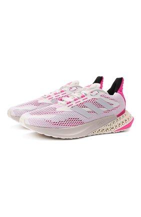 Женские комбинированные кроссовки ADIDAS ORIGINALS белого цвета, арт. Q46225 | Фото 1