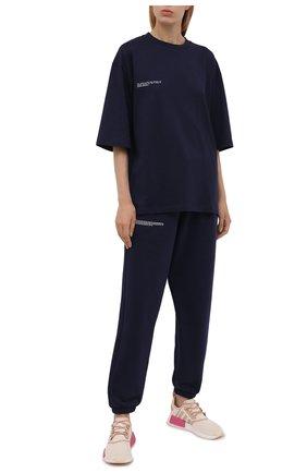 Женские комбинированные кроссовки nmd r1 ADIDAS ORIGINALS бежевого цвета, арт. GZ7998 | Фото 2