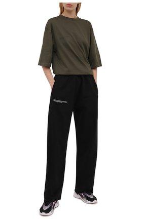 Женские комбинированные кроссовки ozelia ADIDAS ORIGINALS черного цвета, арт. H04266 | Фото 2
